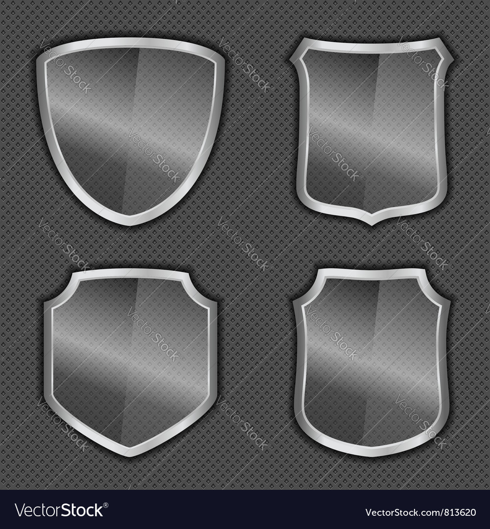 Glass Shields vector image
