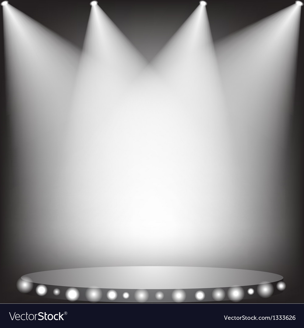 White spotlights vector image