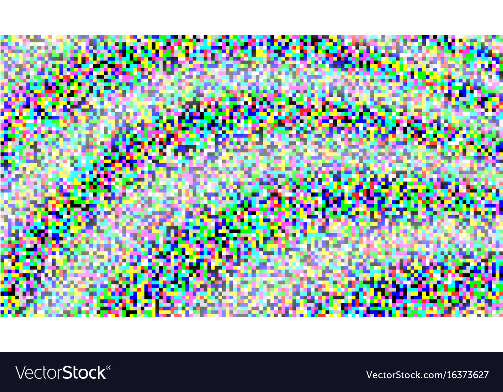 Pixel noise vhs glitch texture tv screen vector image