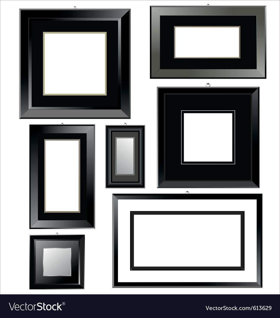Black frames vector image