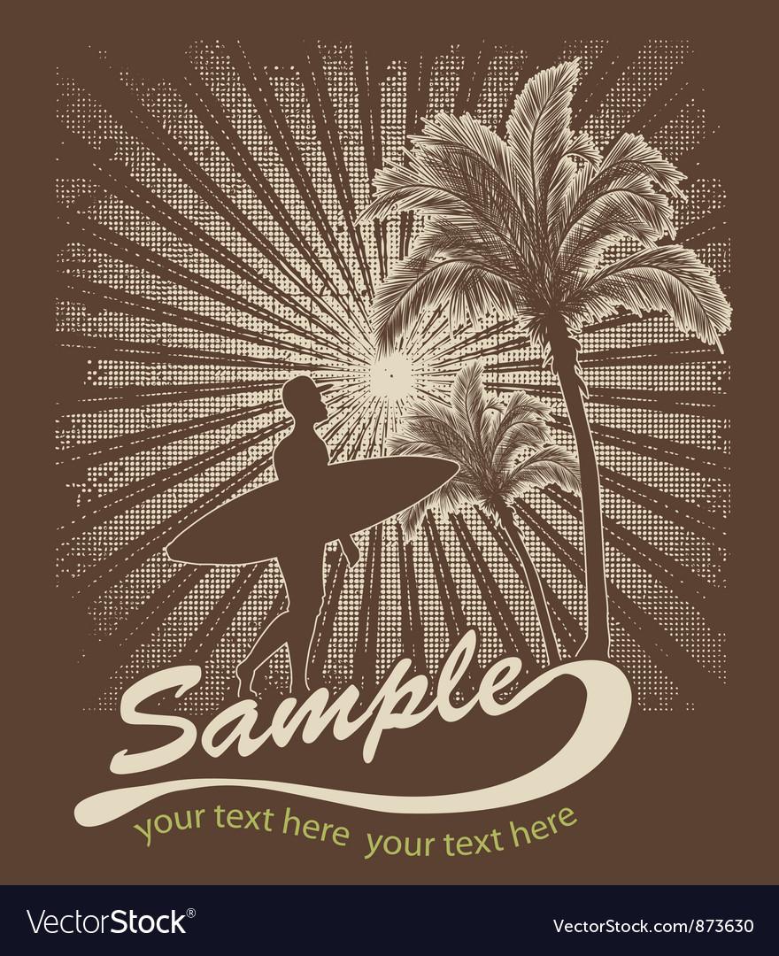 Summer t-shirt design vector image