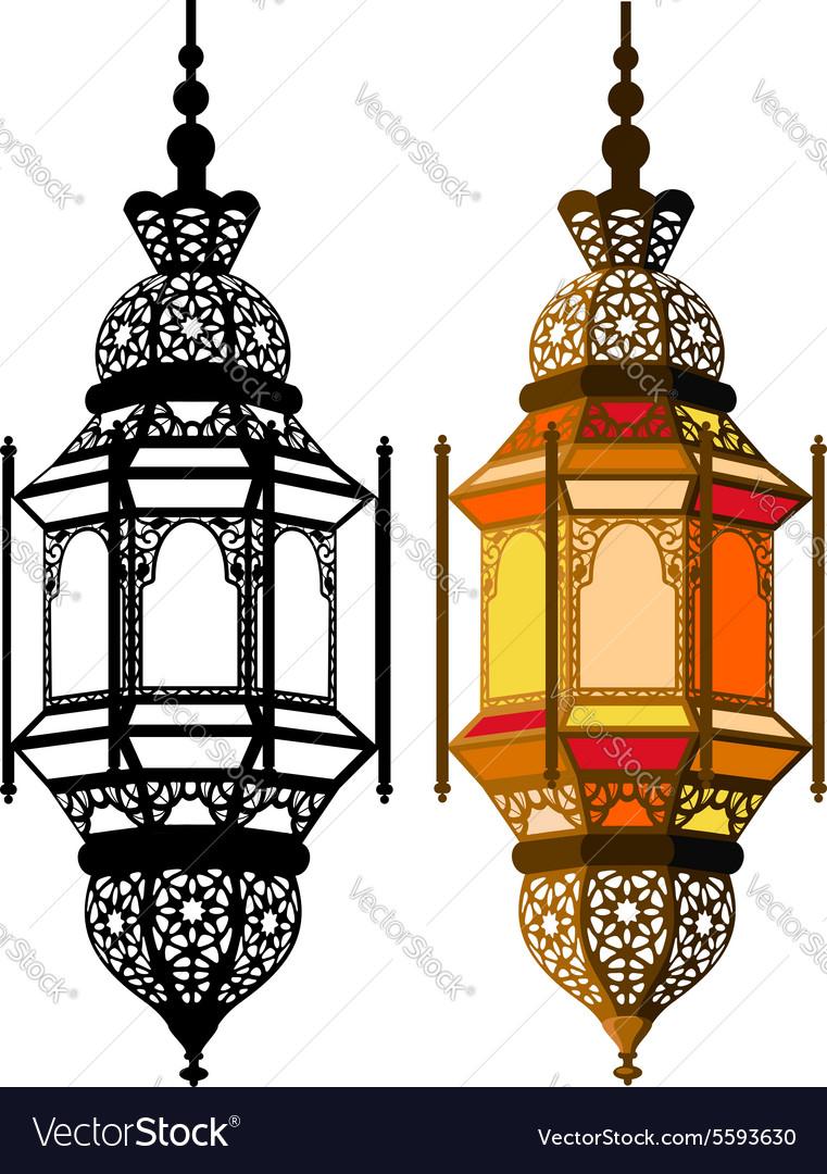 Arabic lantern vector image