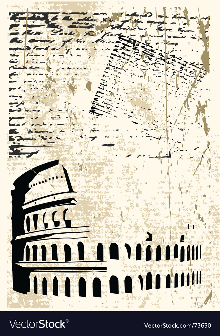 Colosseum background vector image