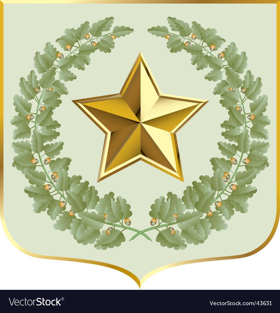 Oak shield vector image