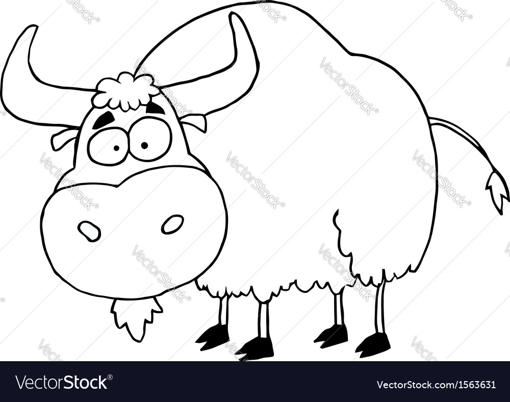 Cartoon yak vector image