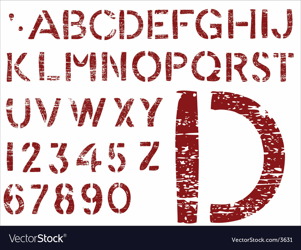 Grunge letters vector image