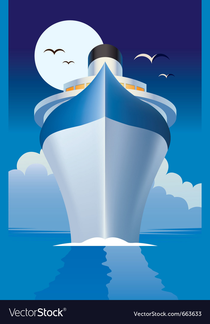 Cruise liner cruise ship vector image