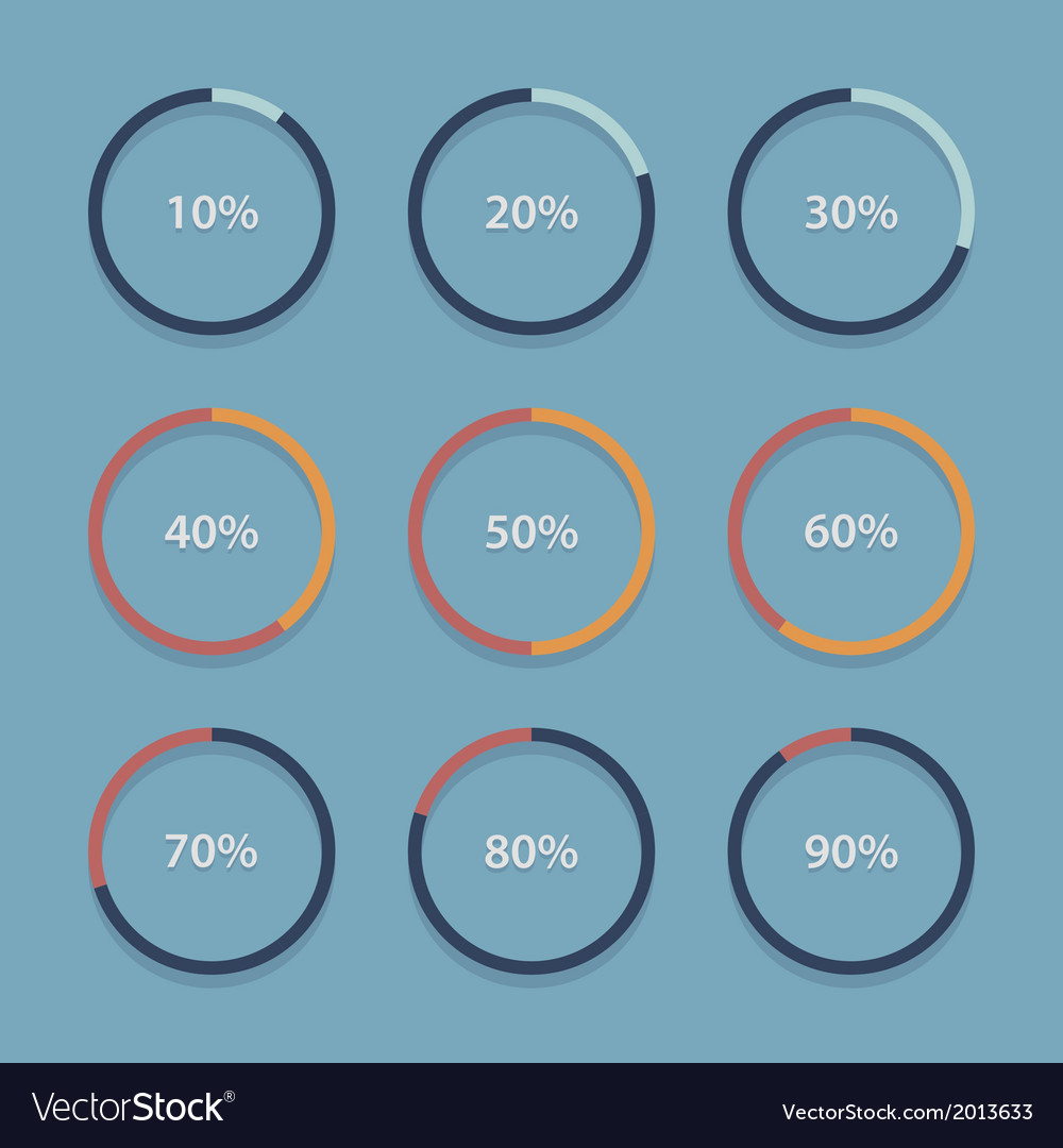 Circle chart graph infographic percentage vector image circle chart graph infographic percentage vector image ccuart Choice Image