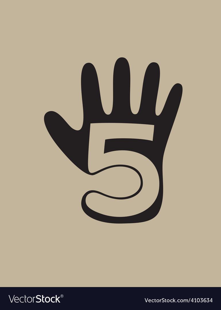 Five finger logo vector image