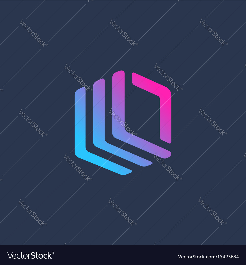 Letter l cube logo icon design template elements vector image