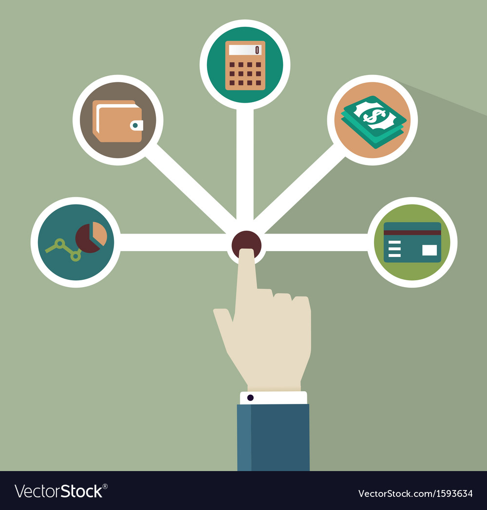 Management of money vector image