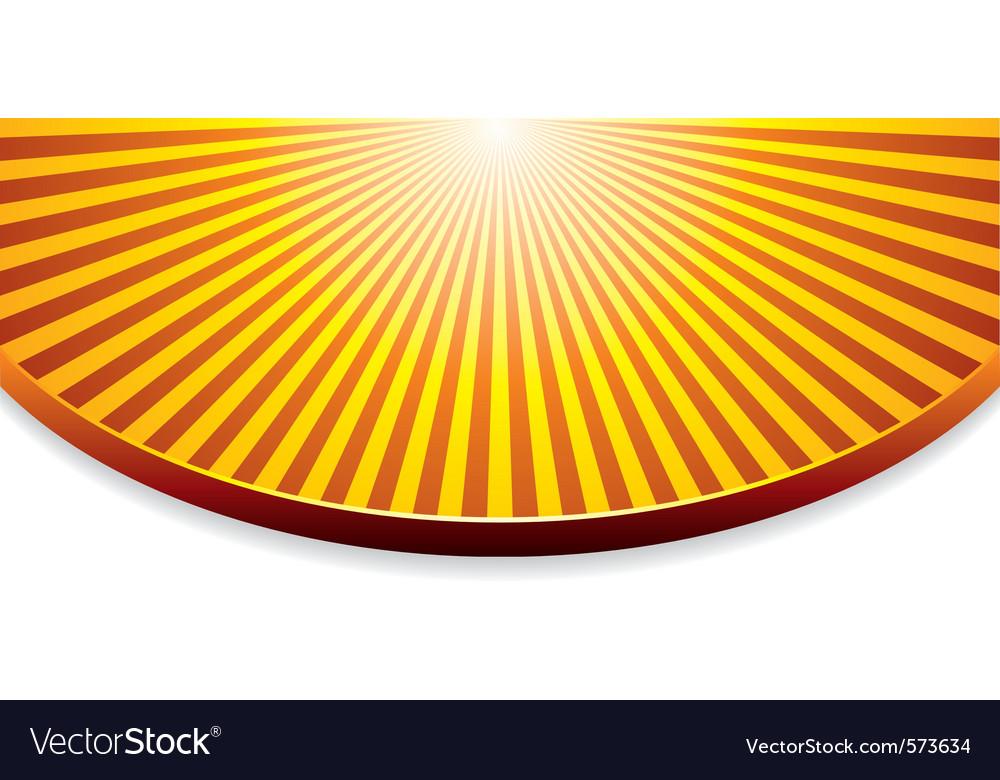 Orange background with sunrise vector image