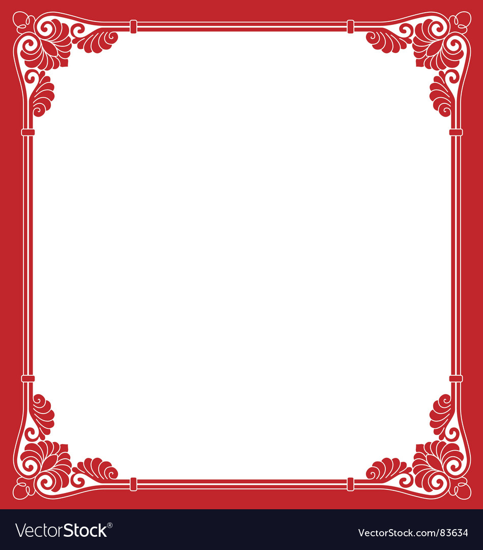 Valentines day border vector image