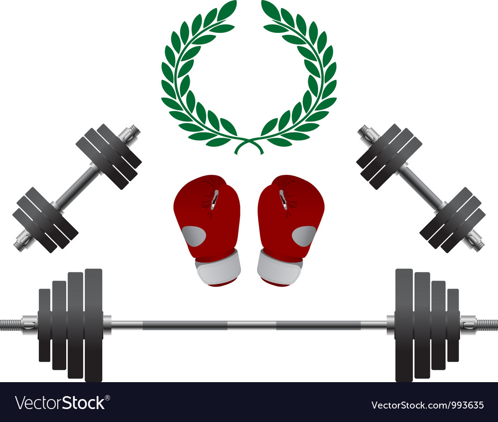Weights Gloves Championship vector image