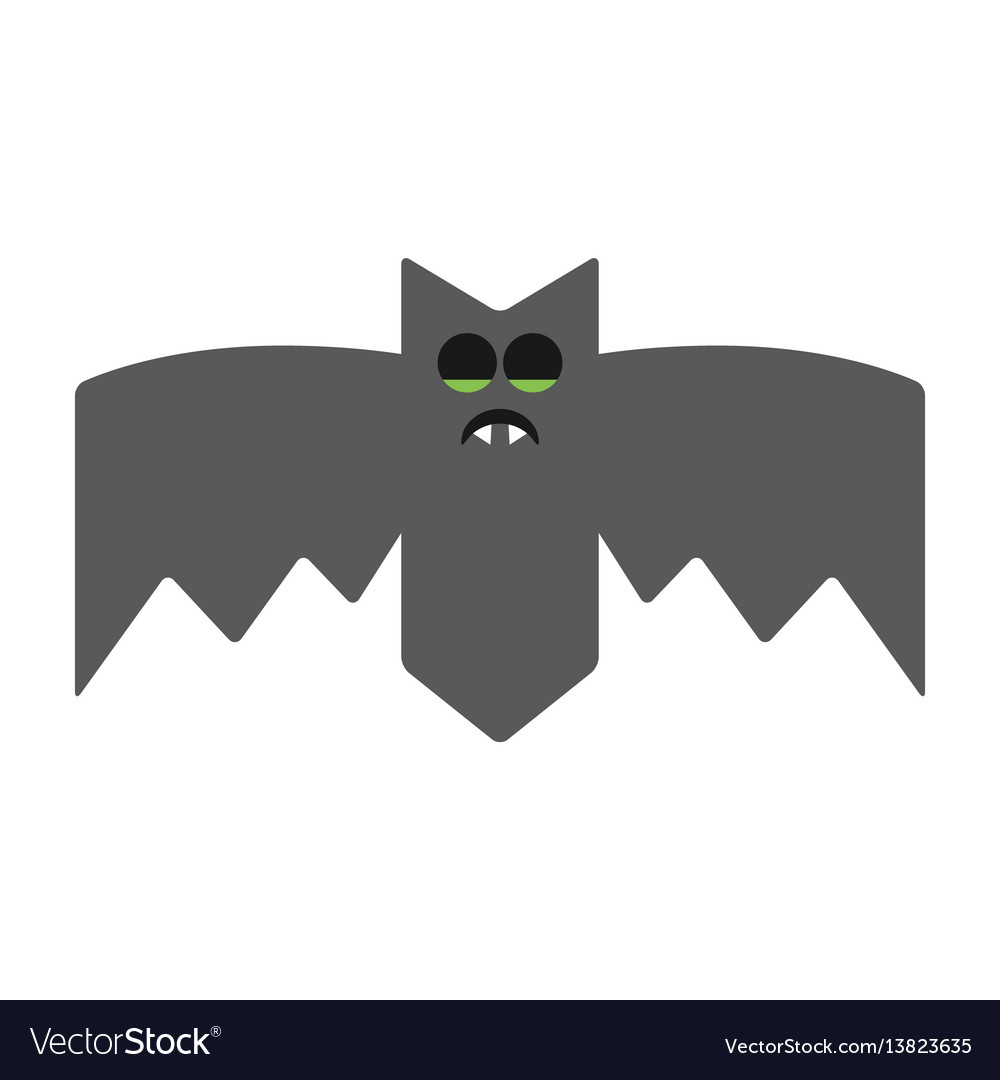 Sleeping bat emotional vampire the character for vector image