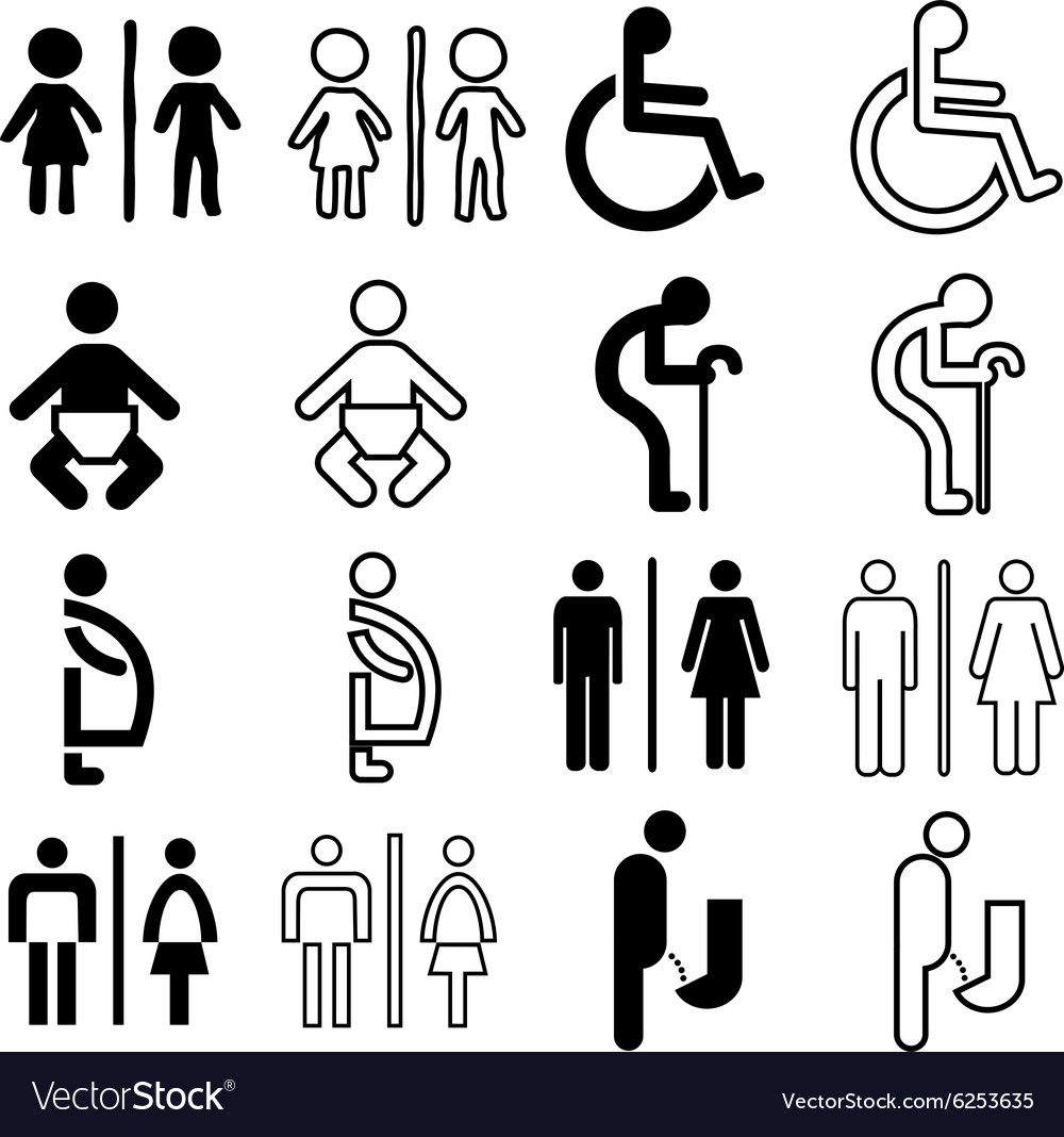 Toilet sign nomal vector image