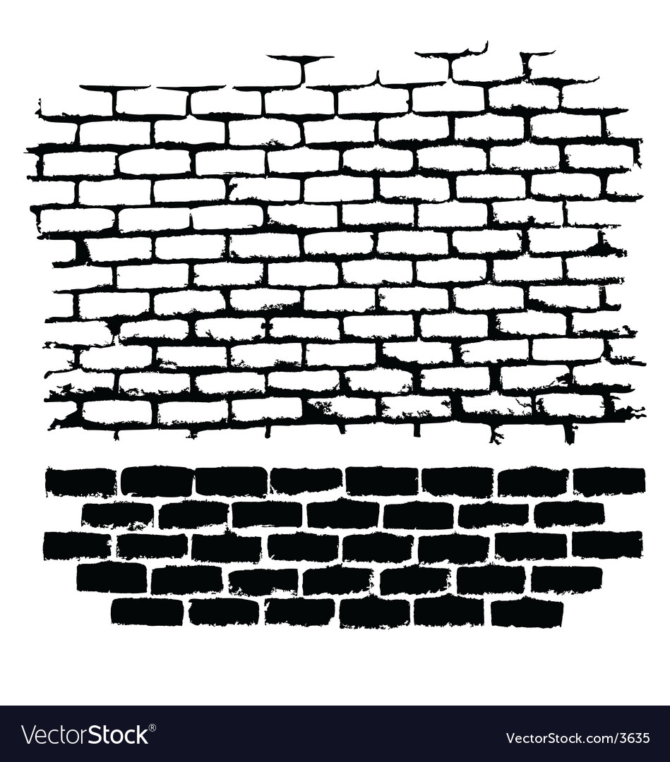 Ugly brick vector image