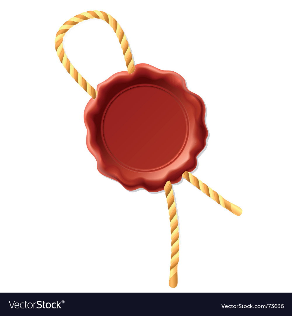 Wax seal with rope vector image