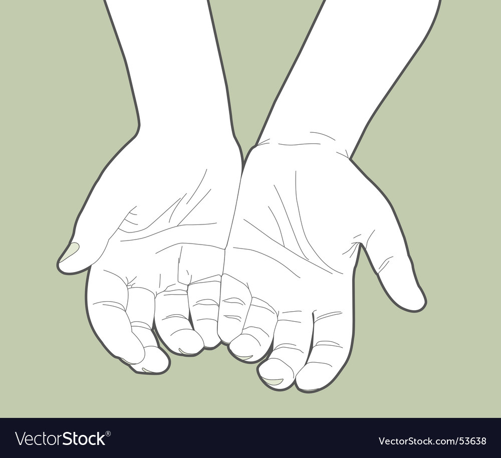 Giving hands vector image