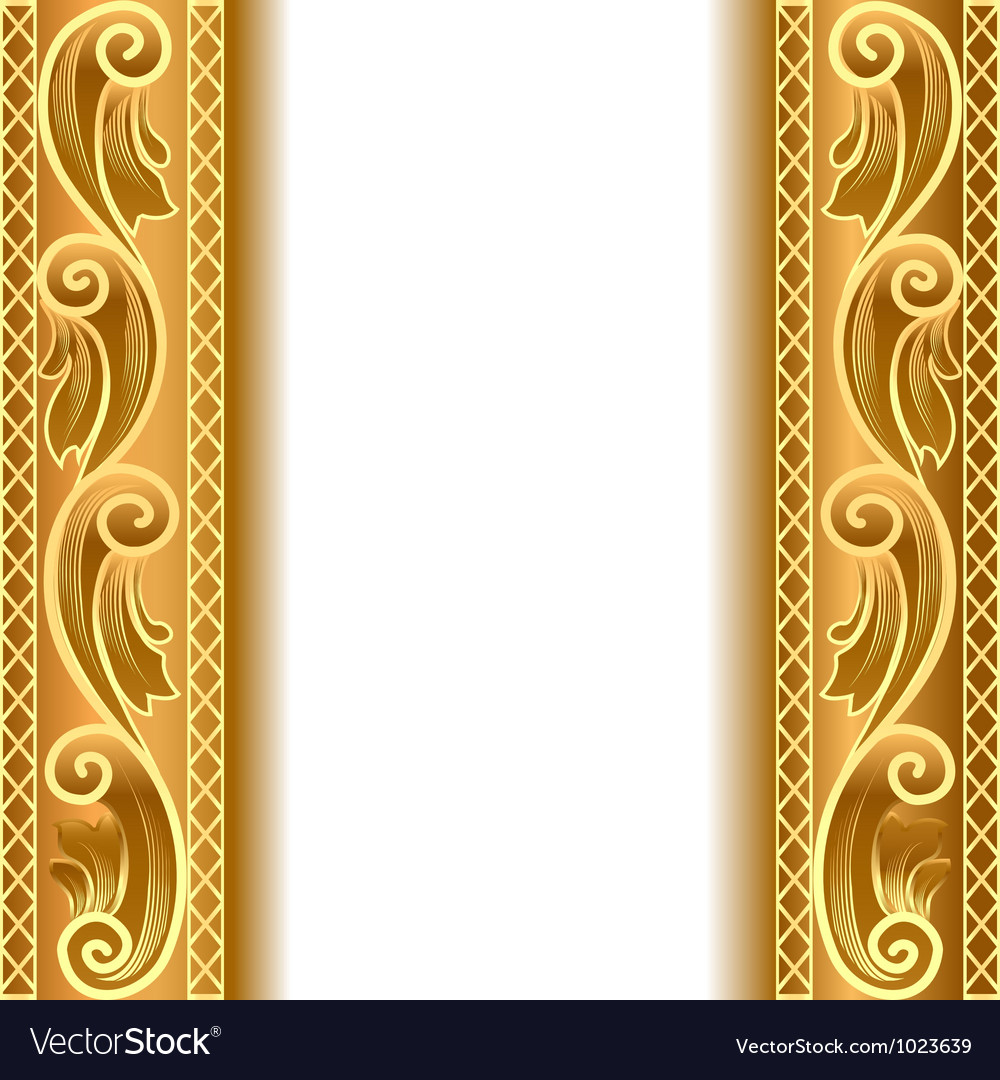 vintage gold strip frame royalty free vector image vectorstock. Black Bedroom Furniture Sets. Home Design Ideas
