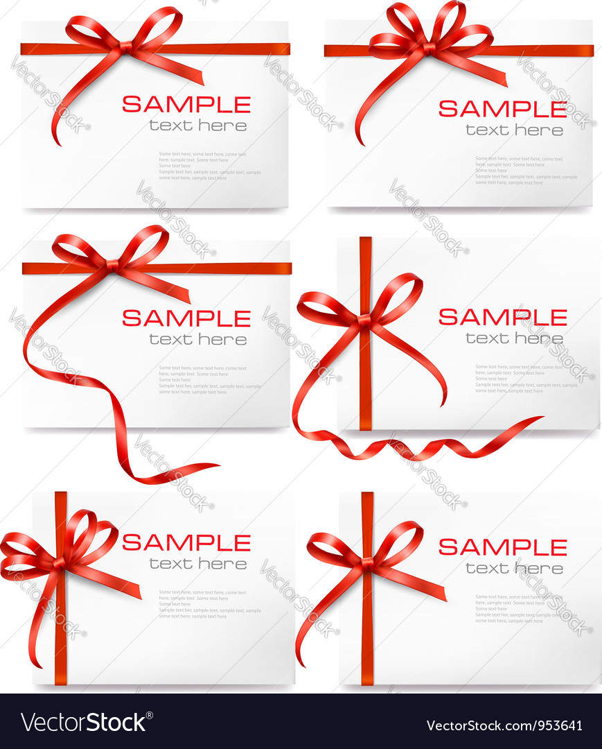 Gift tags and cards Vector Image