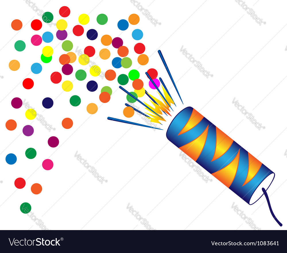 Christmas cracker vector image