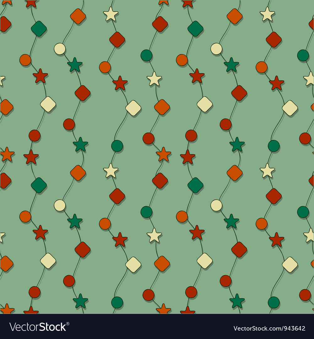 Seamless christmas wrapping paper vector image