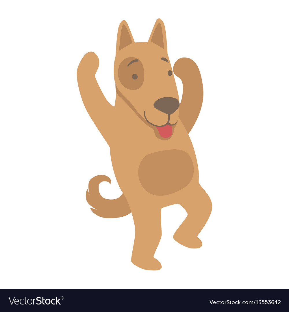Dog cute toy animal with detailed elements part of vector image