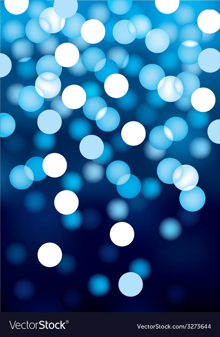 Blue festive lights background vector image