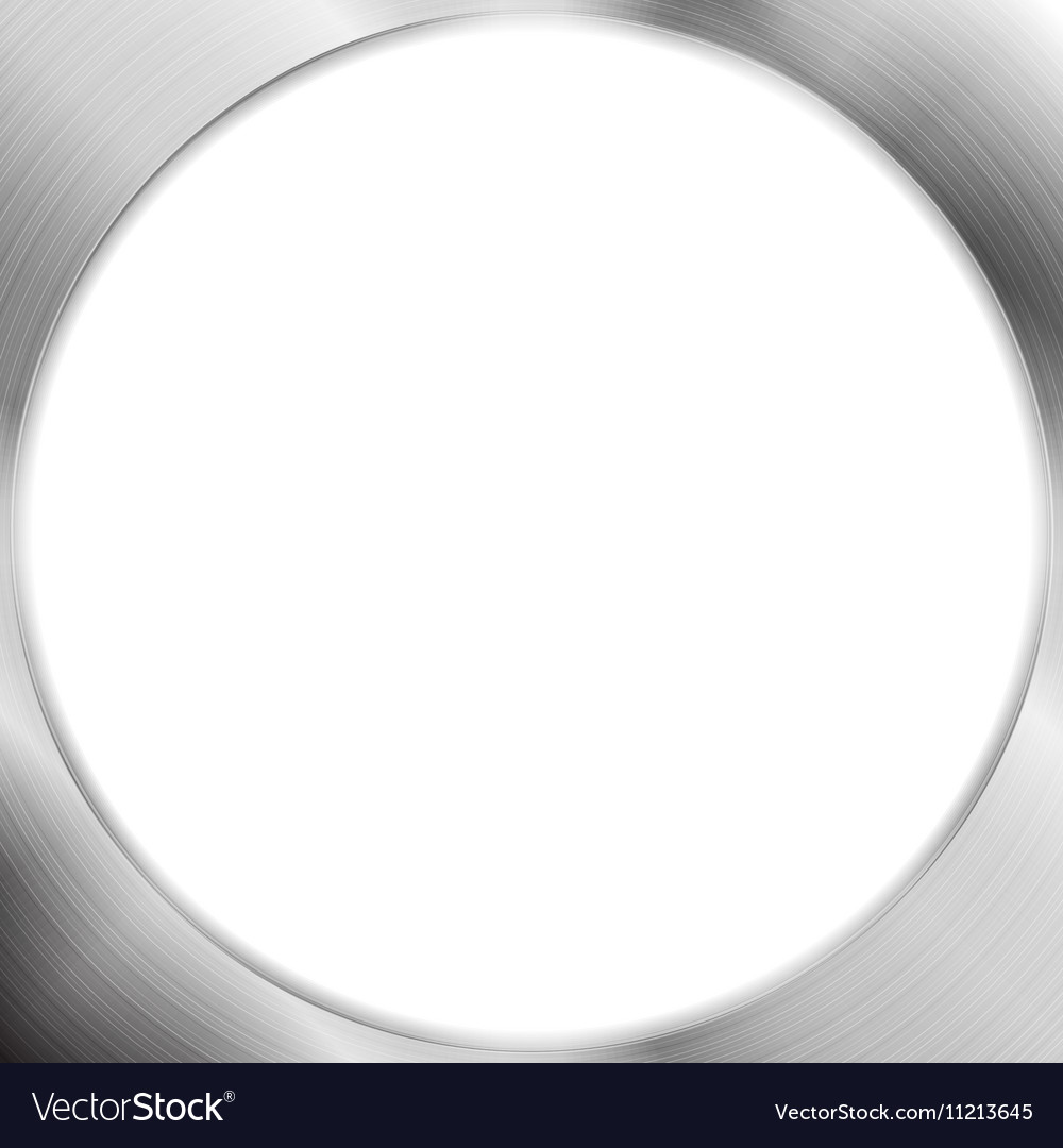 Abstract metallic silver blank circle frame vector image