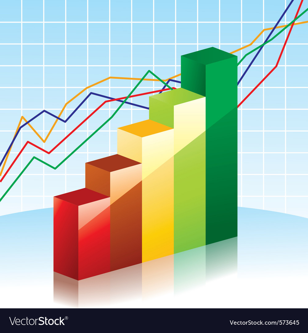 Bar charts vector image