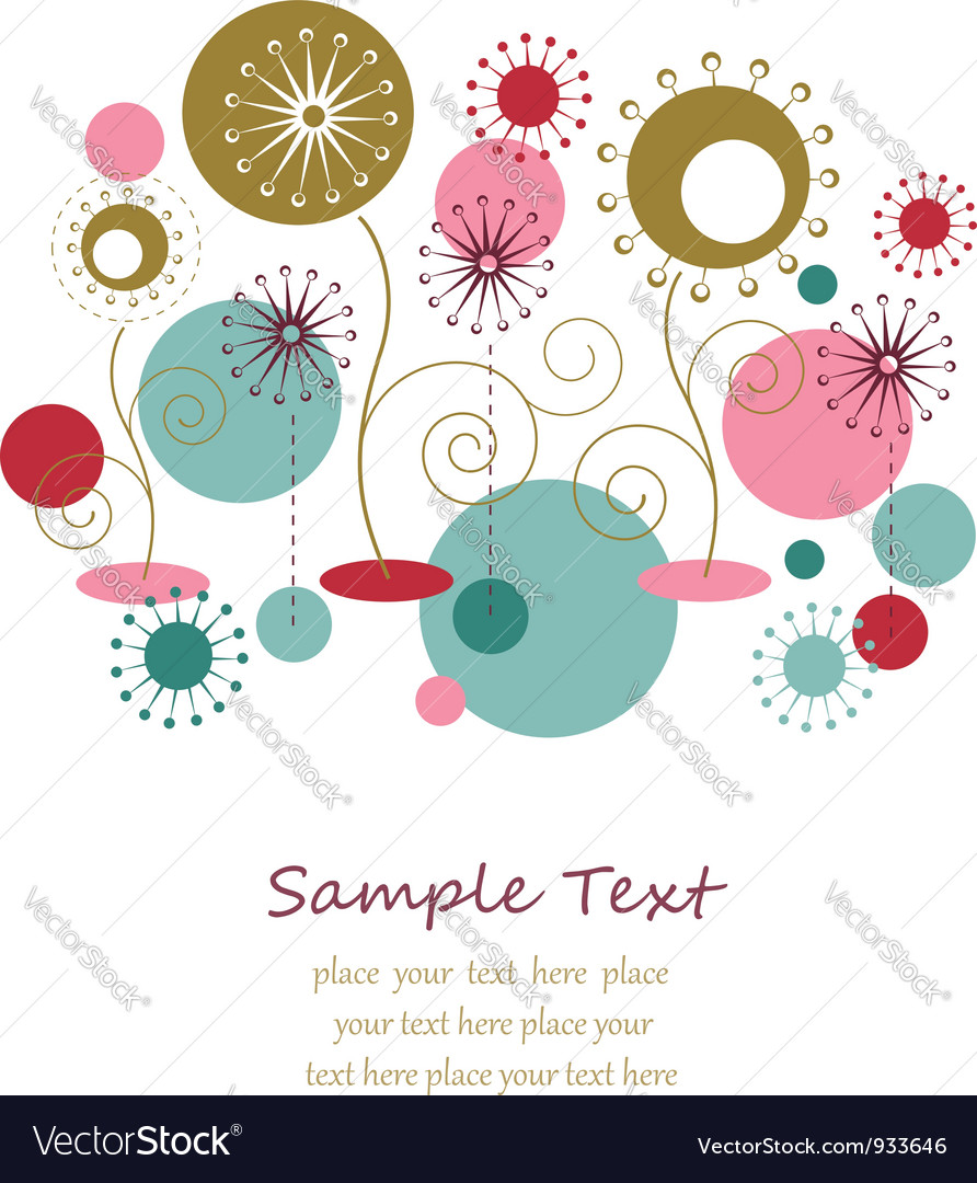 Dandelion flowers abstract background vector image