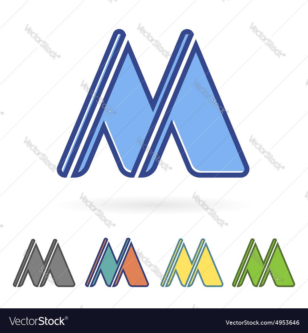 letter m design royalty free vector image vectorstock. Black Bedroom Furniture Sets. Home Design Ideas