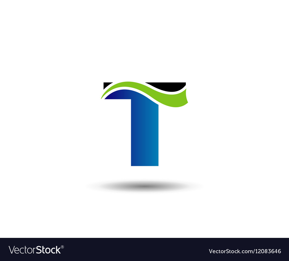 Letter T logo Icons Graphic Design Royalty Free Vector Image