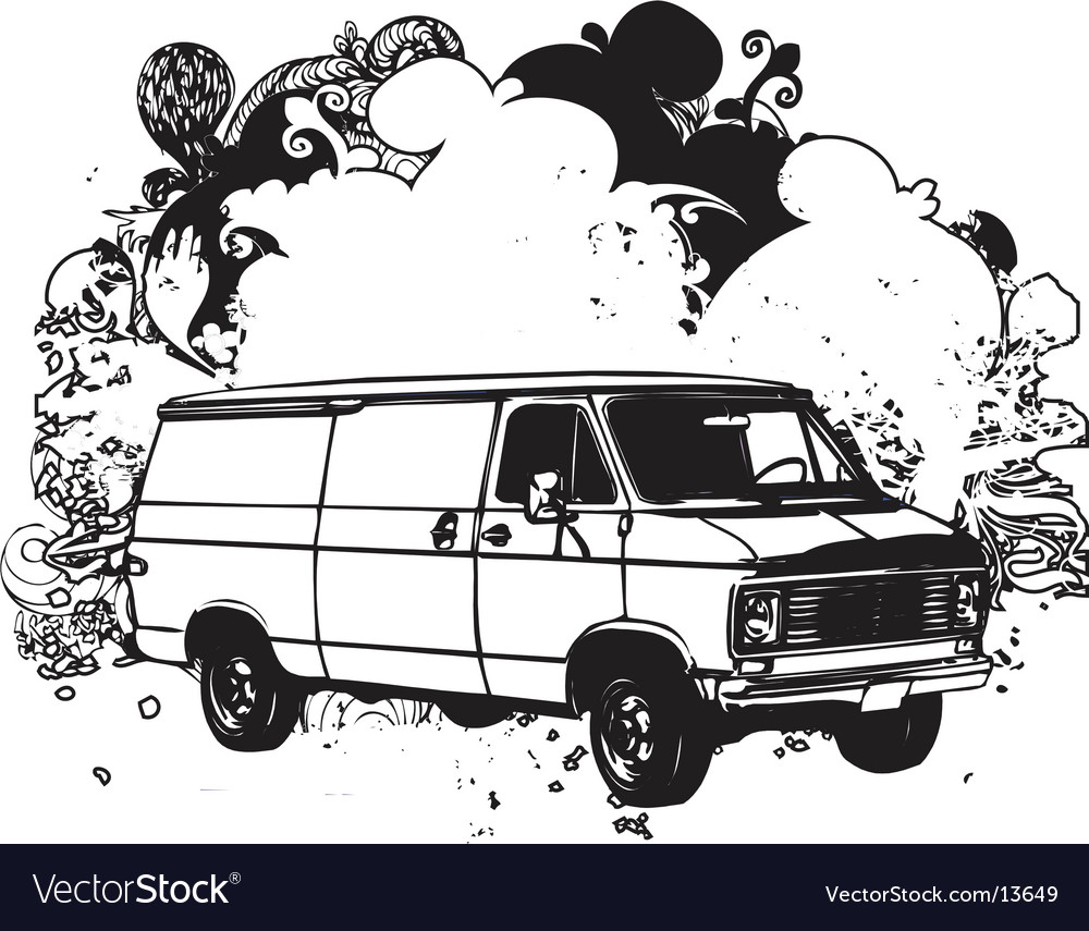 Van illustration vector image