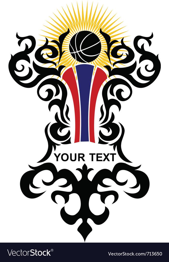 Ornate emblem Vector Image