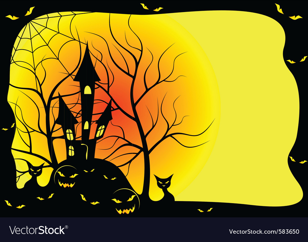 Card for halloween vector image
