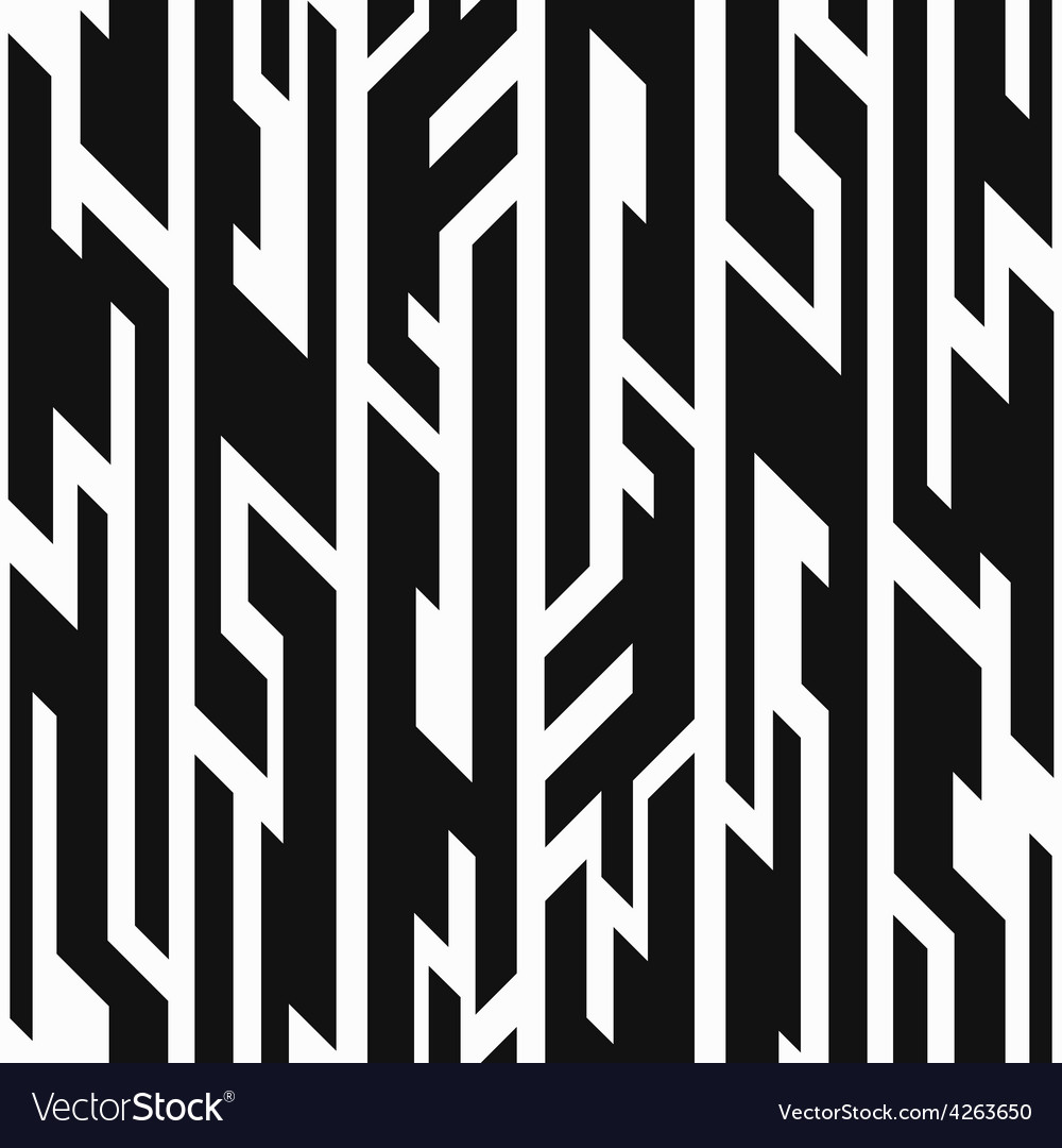 Monochrome aztec geometric seamless pattern vector image