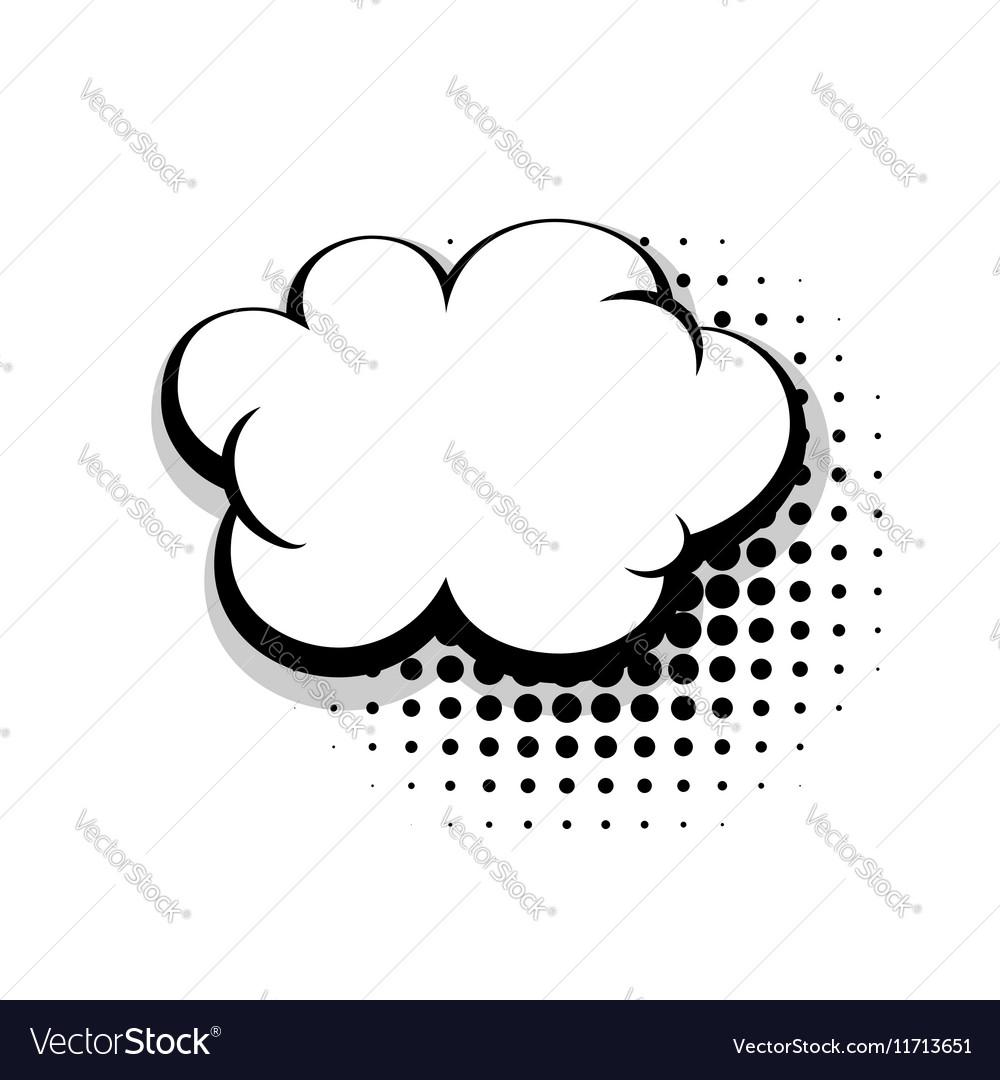 Template simple comic speech cloud bubble Vector Image
