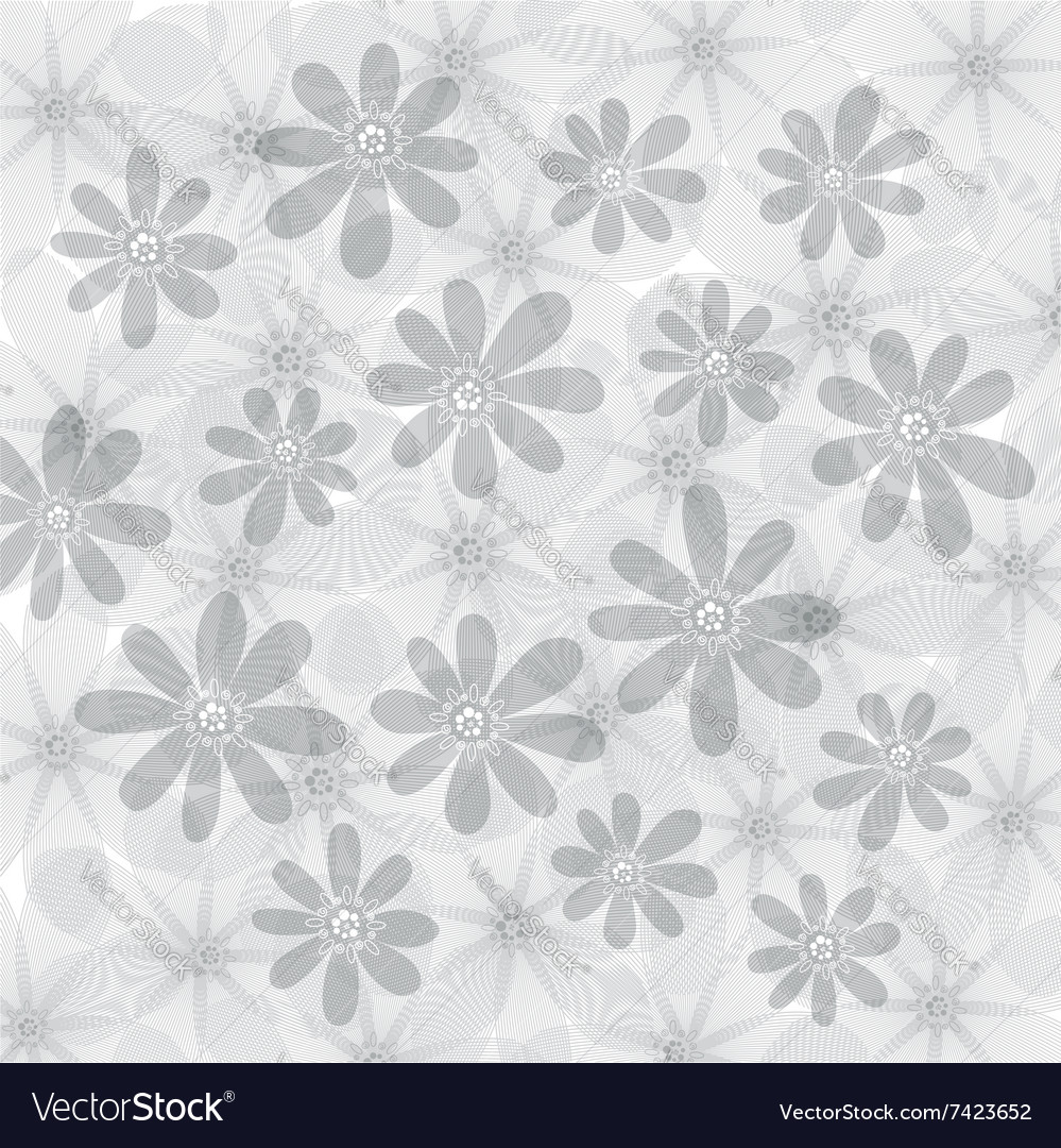 Floral background flowers pattern vector image