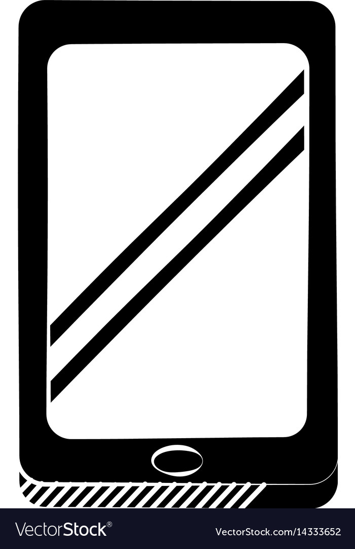Smartphone technology communication pictogram vector image