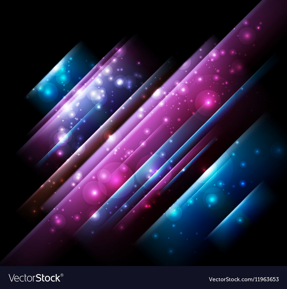Abstract Design with Neon Lines vector image