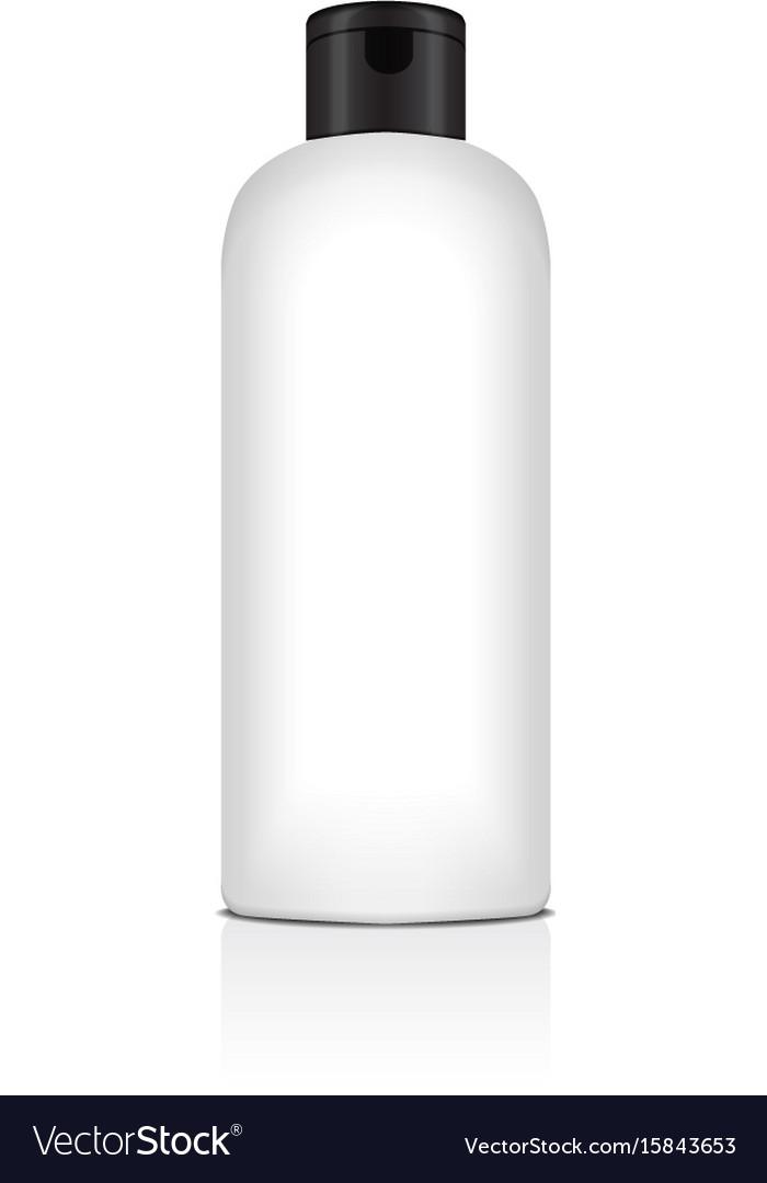 Blank plastic bottle for shampoo lotion vector image