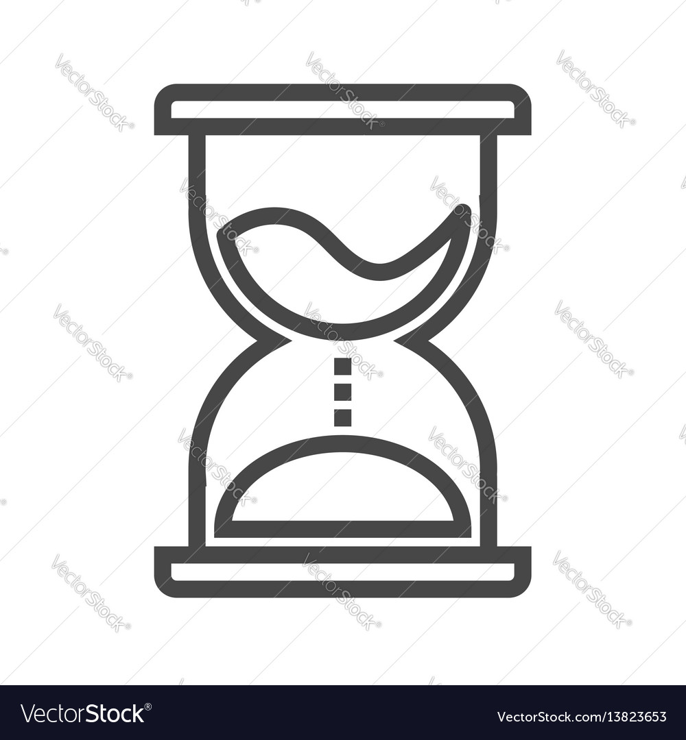Hourglass thin line icon vector image