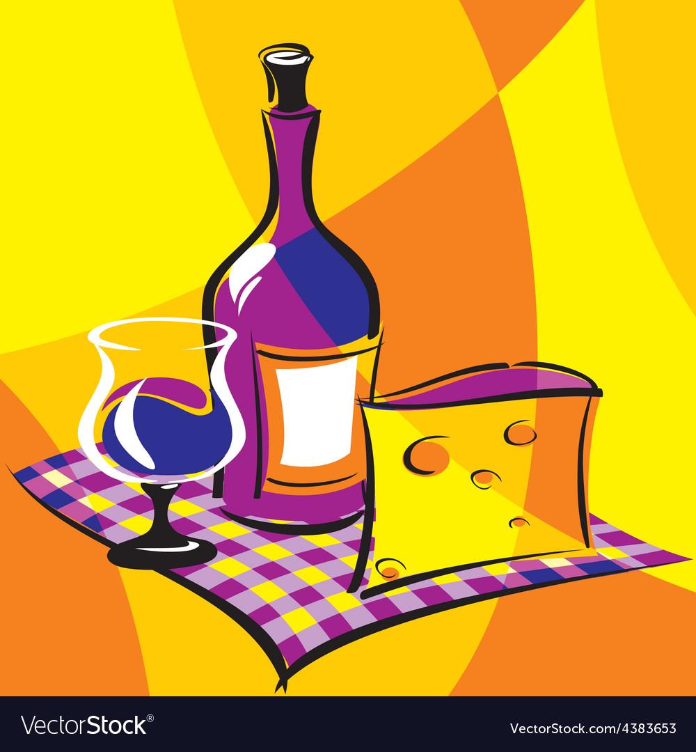 Wine vs vector image
