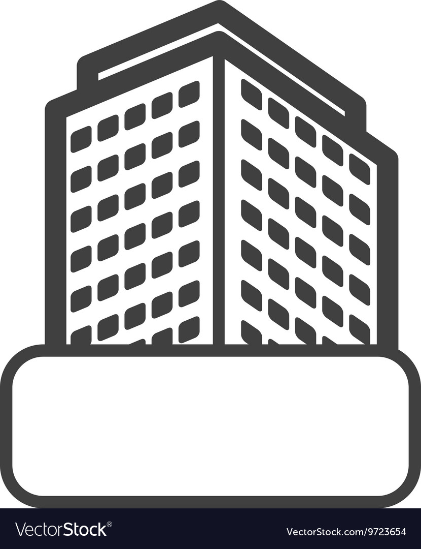 Apartment Building Graphic apartment icon building design graphic royalty free vector