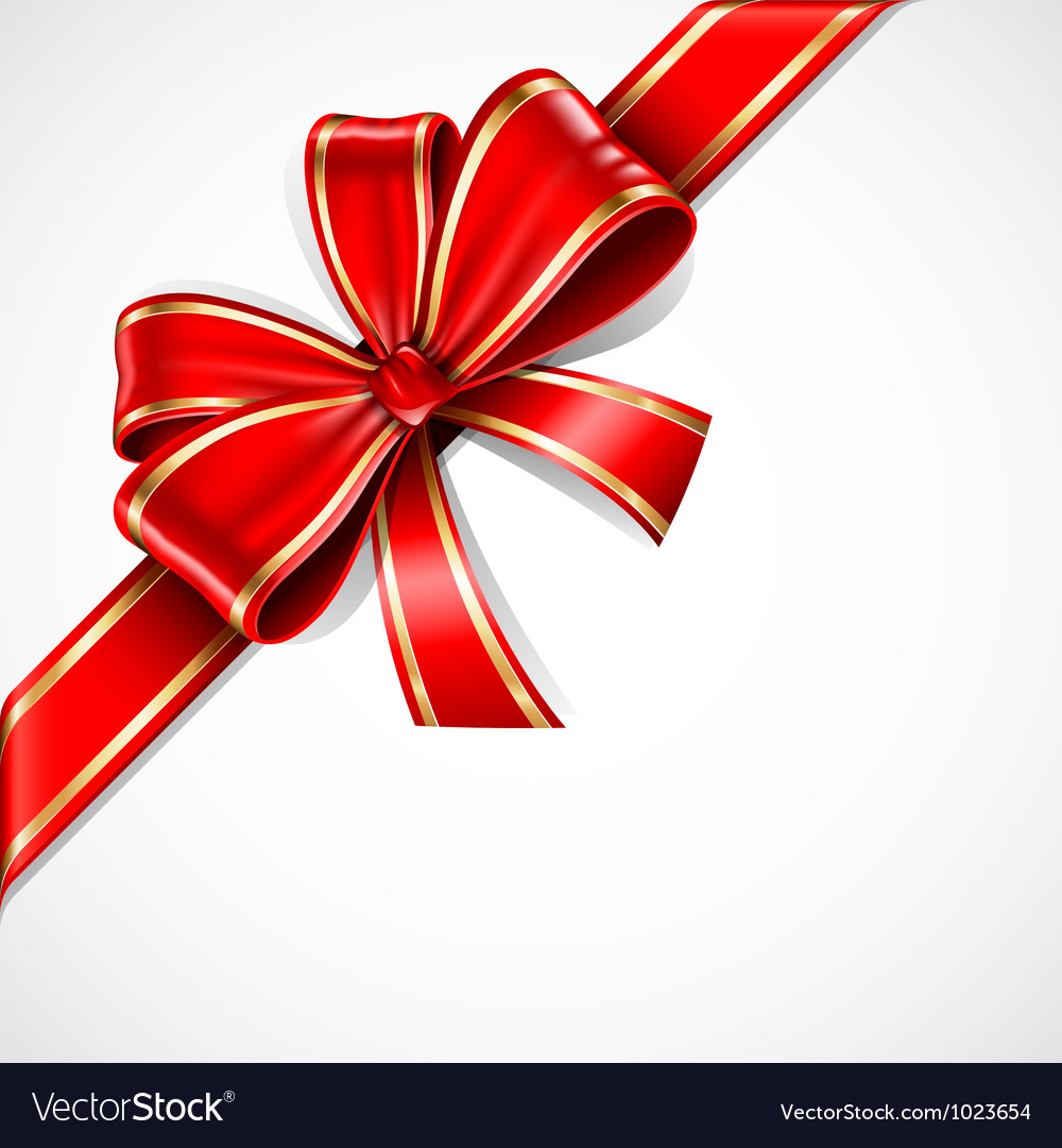 Bow ribbon vector image