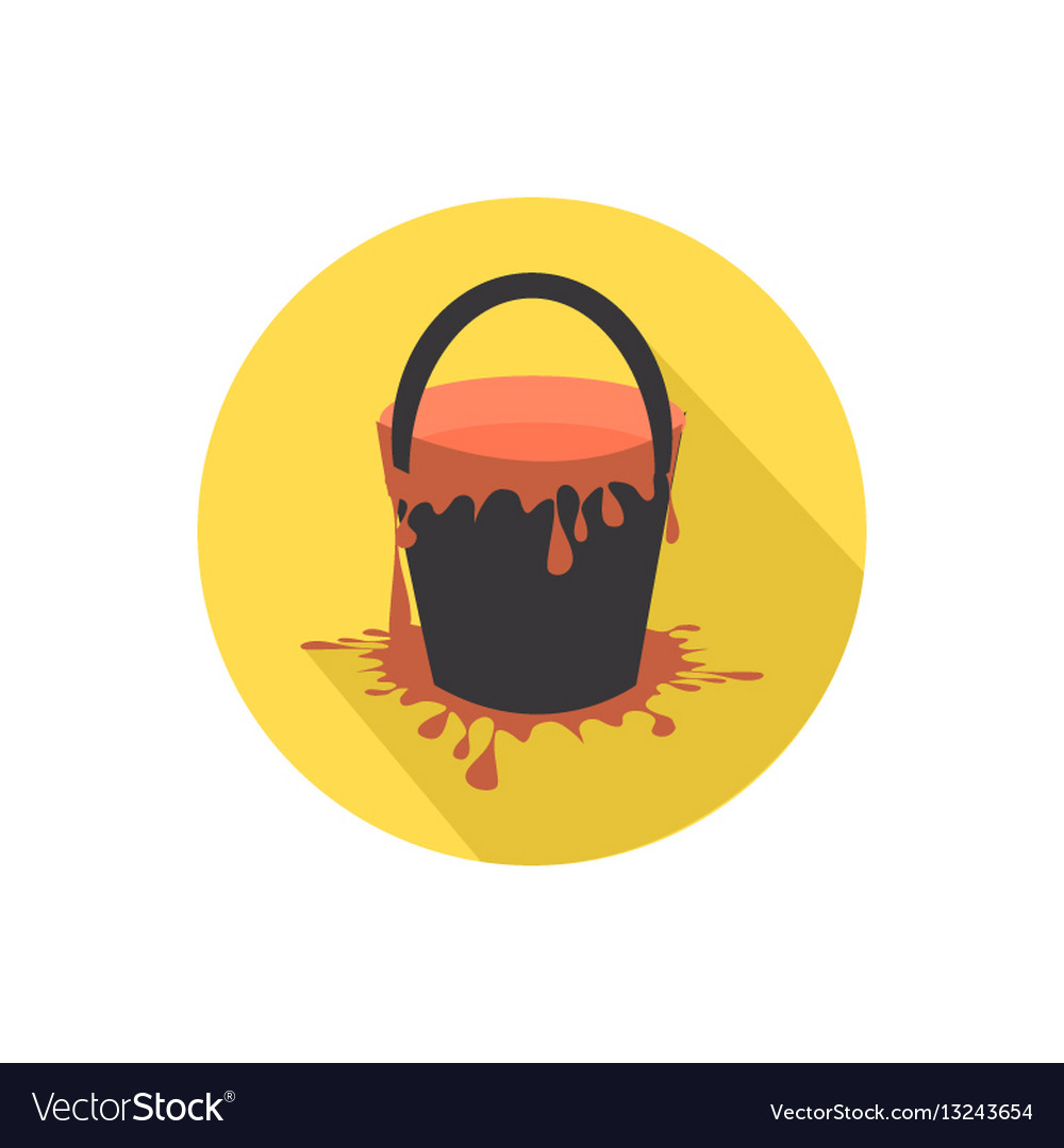Paint bucket icon isolated on a white background vector image