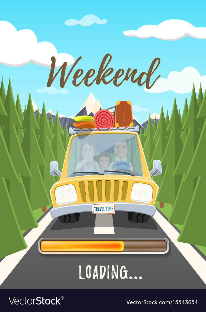 Weekend loading poster vector image