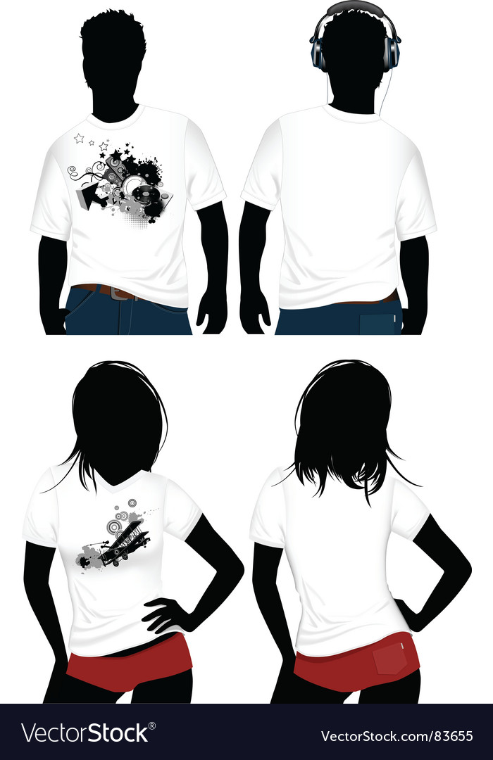 Woman's and mans Vector Image